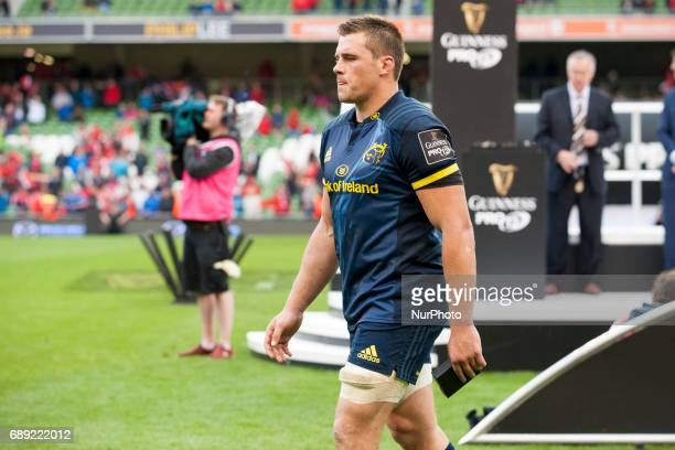 CJ Stander of Munster dejected after the Guinness PRO12 Final between Munster Rugby and Scarlets at Aviva Stadium in Dublin Ireland on May 27 2017