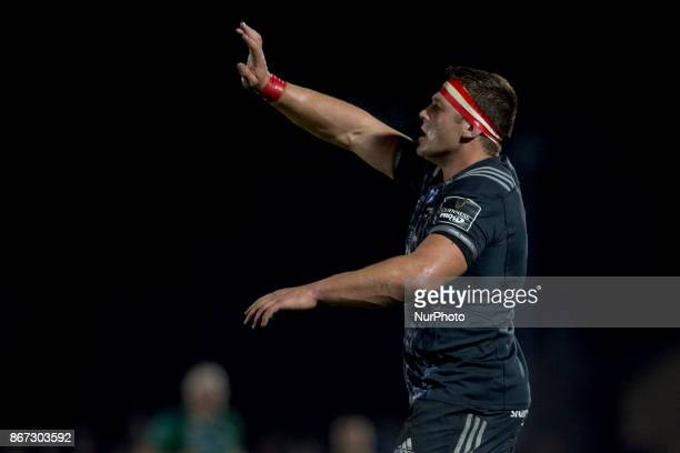 CJ Stander of Munster during the Guinness PRO14 match between Connacht Rugby and Munster Rugby at the Sportsground in Galway Ireland on October 27...