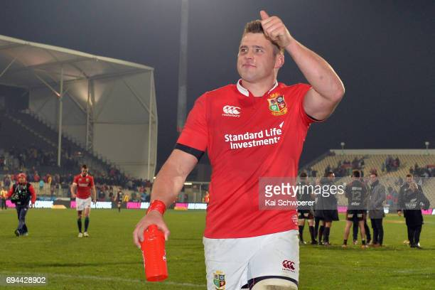 Stander of the Lions reacting after the win in the match between the Crusaders and the British Irish Lions at AMI Stadium on June 10 2017 in...