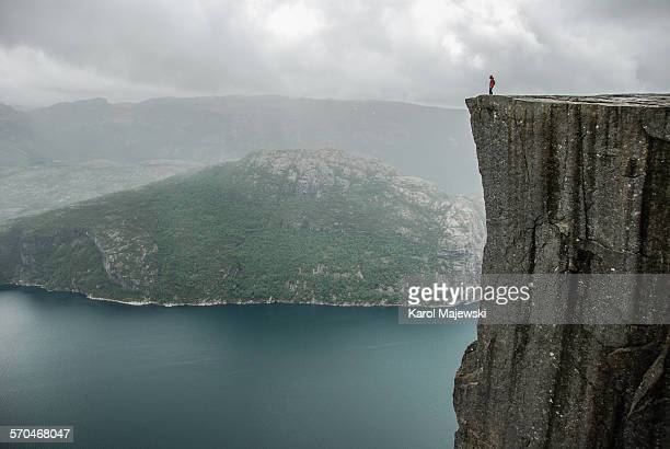 Standing at the edge of Pulpit rock