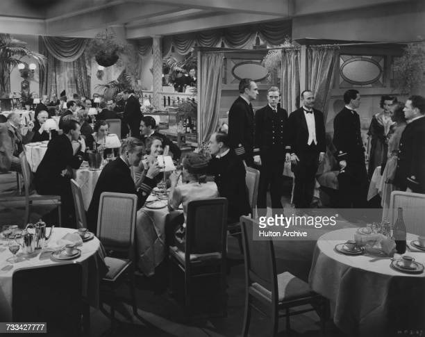 Conrad Veidt Marius Goring and Howard MarionCrawford in a scene from 'The Spy In Black' directed by Michael Powell 1939