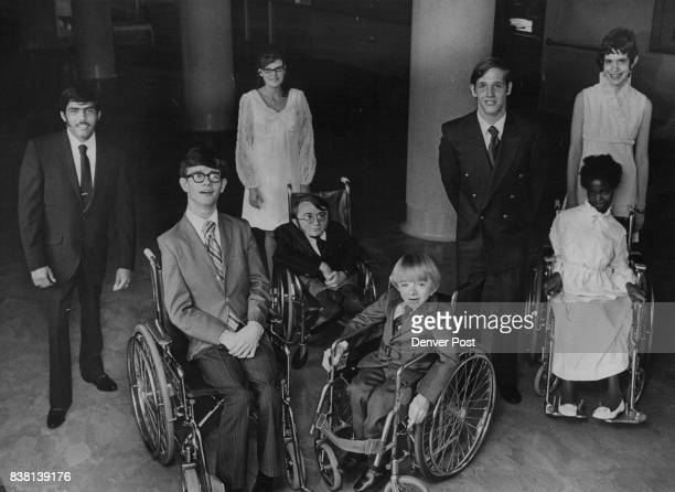 Standing from left are Theodore Martinez Pamela Ann Milliard James Chadwick Ferriter and Judith Ann McBride Seated from left are Christopher Grey...