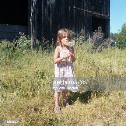 Standing girl : Stock Photo