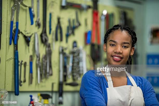 Standing in Her Shop