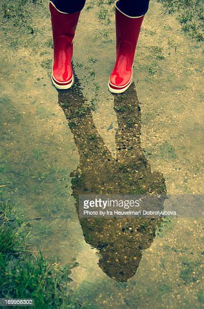 Standing in puddle