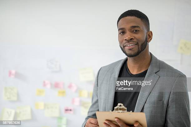 CEO Standing in the Office