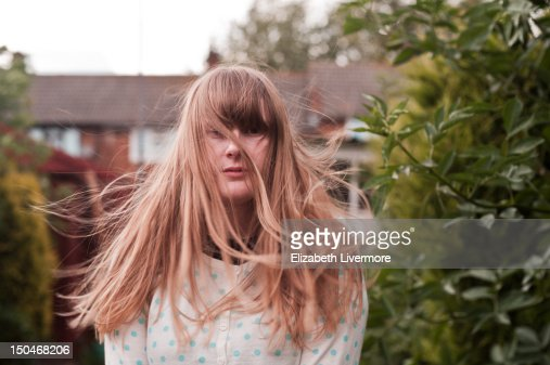 Standing in wind : Photo