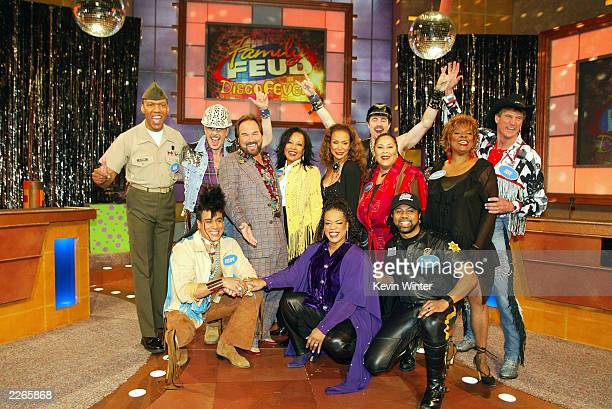 Standing L to R Alexander Briley David Hodo host Richard Karn JaniceMarie Freda Payne Eric Anzalone Martha Wash Thelma Houston Jeff Olson front...