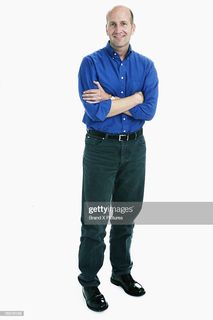 Standing man : Stock Photo