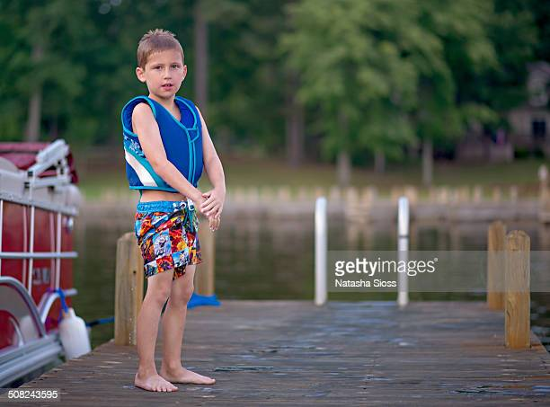 Standing on the dock