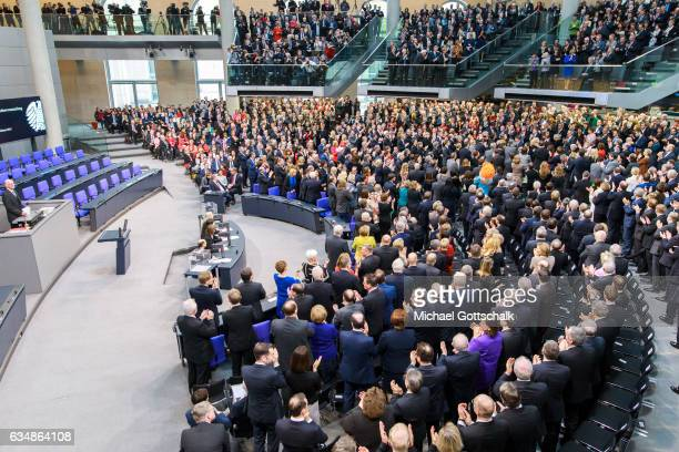 Standing ovation for German President Joachim Gauck during the election of a new German President by the Federal Assembly at the Bundestag on...