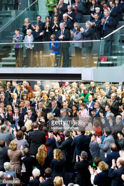 Standing Ovations for German President Joachim Gauck during the election of a new German President by the Federal Assembly at the Bundestag on...