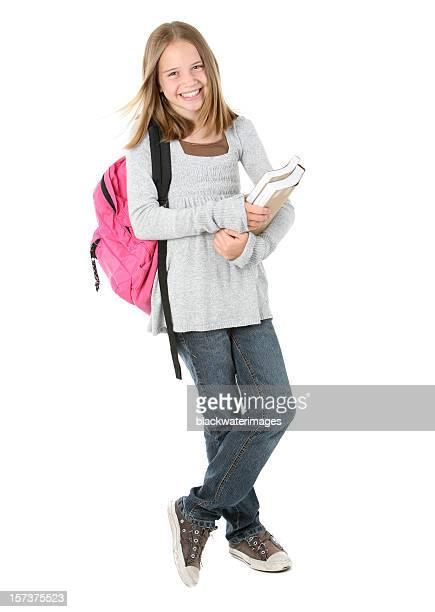 Standing schoolgirl.