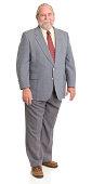 Standing Senior Man In Suit