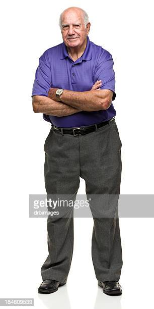 Standing Senior Man With Arms Crossed