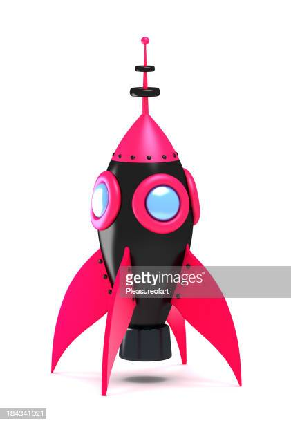 Standing spaceship