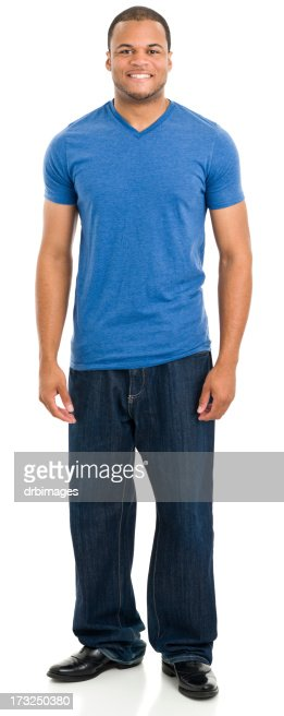 Standing Young Man Smiling
