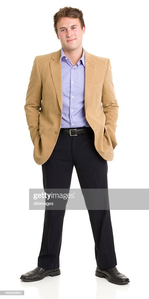 Standing Young Man Smirking