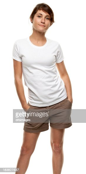 Standing Young Woman Three Quarter Length Portrait