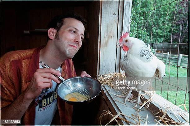 Standup comic Alex Nussbaum at Riverdale Farm for Schtick Handling column Nussbaum wonders why chicken is never a side option with eggsyou can order...