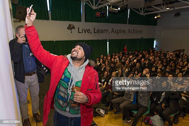 Standup muslim comedian Humza Arshad in Whitefield school in North London works alongside Scotland Yard with a show to help fight radicalization On...