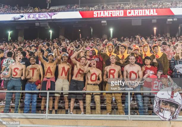 Stanford Cardinal 12man section in full swing during the regular season game between the Oregon Ducks verses the Stanford Cardinals on October 14...