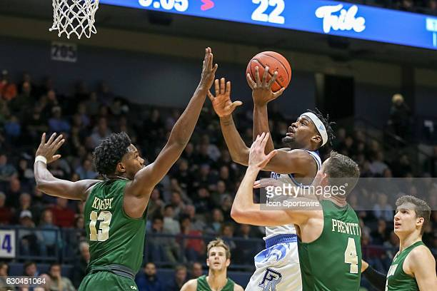 Stanford Robinson Guard for URI goes for the lay up during the game between the University of Rhode Island Rams and the William Mary Tribe on...