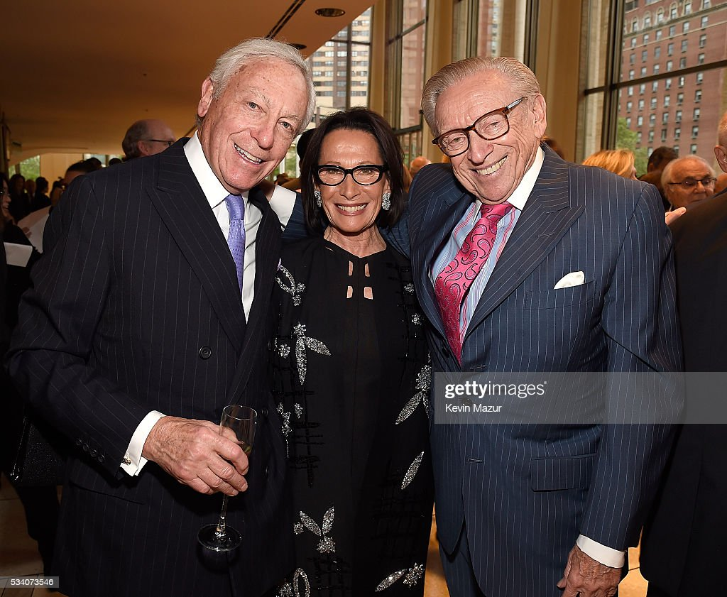 Stanford Warshawsky (L) and Larry Silverstein (R) attend New York Philharmonic's Spring Gala, A John Williams Celebration at David Geffen Hall on May 24, 2016 in New York City.