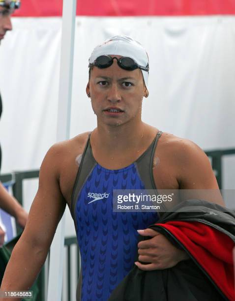 Stanford's Dana Kirk qualified third during the Prelims at the Janet Evans Invitational in Long Beach California June 12 2004