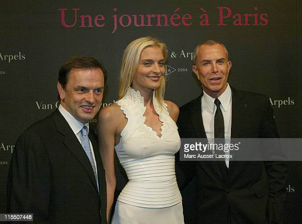 Stanislas de QuercizeChairman of Van Cleef Arpels Sarah Marshall and Jean Claude Jitrois