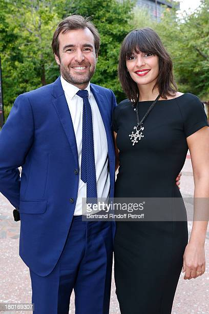 Stanislas Gokelaere and Celine Robinsson attend 'Friends of Quai Branly Museum Society' dinner party at Musee du Quai Branly on September 9 2013 in...