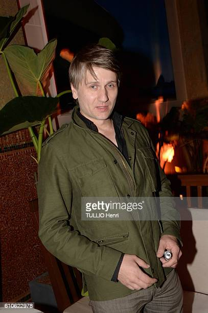 Stanislas Merhar poses for Paris Match in the brazilian party at the Hotel Prince de Galles on june 29 2016 in Paris France