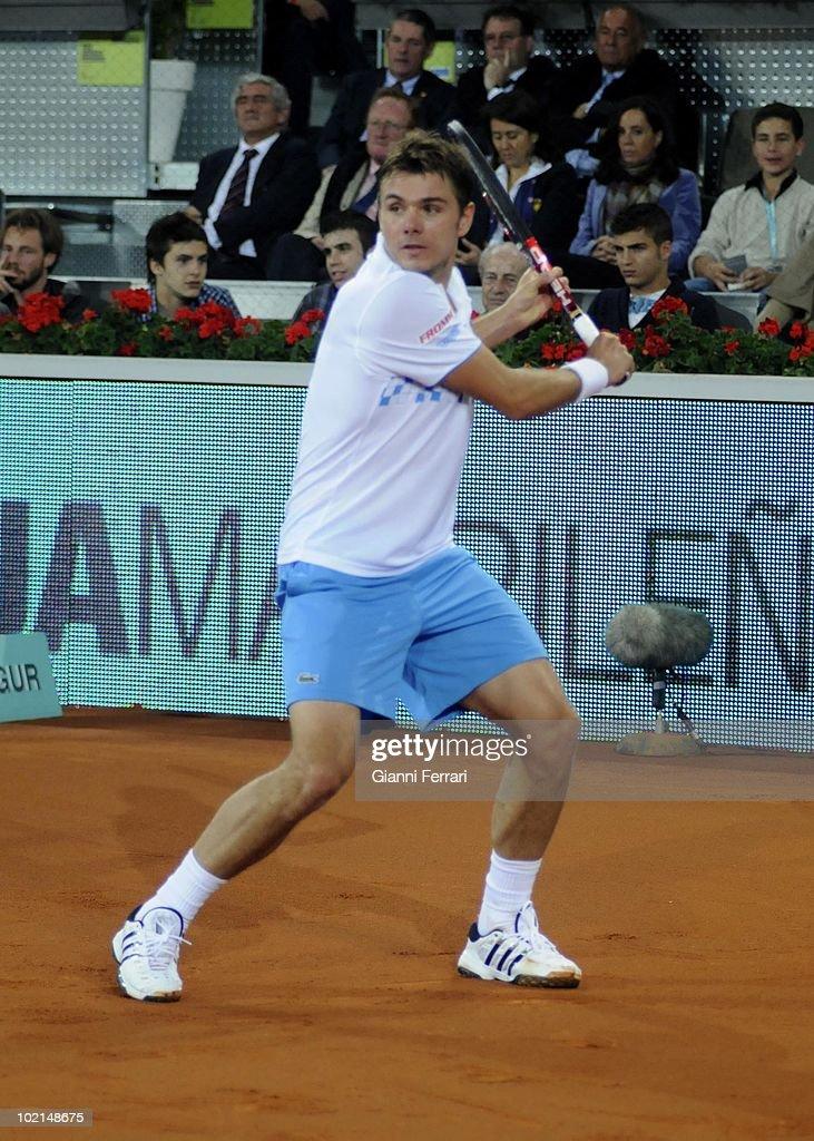 Stanislas Wawrinka, SUI, tennis in 'Mutua Madrilena Madrid Open' , 8th May 2010, in 'La Caja Magica'. Madrid, Spain.
