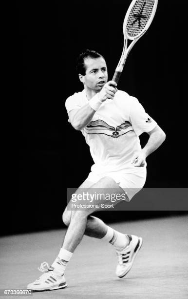 Stanislav Birner of Czechoslovakia in action during the Benson and Hedges Championships held at the Wembley Arena in London circa November 1987