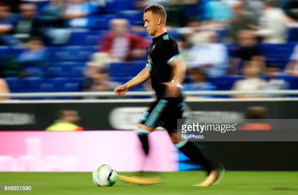 Stanislav Lobotka during La Liga match between RCD Espanyol v Celta in Barcelona on September 18 2017