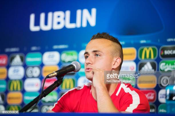 Stanislav Lobotka of Slovakia during the Slovakia U21 national team MD1 press conference at Arena Lublin on June 21 2017 in Lublin Poland
