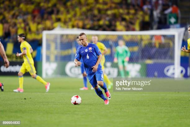 Stanislav Lobotka of Slovakia during the UEFA European Under21 match between Slovakia and Sweden at Arena Lublin on June 22 2017 in Lublin Poland