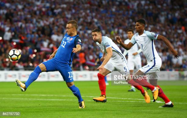 Stanislav Lobotka of Slovakia during World Cup Qualifying European Group F match between England and Slovakia at Wembley stadium on September 4 2017...