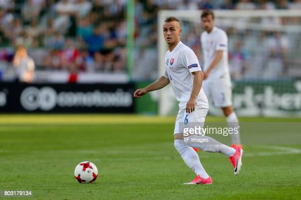 Stanislav Lobotka of Slovakia in action during the 2017 UEFA European Under21 Championship match between Slovakia and England on June 19 2017 in...
