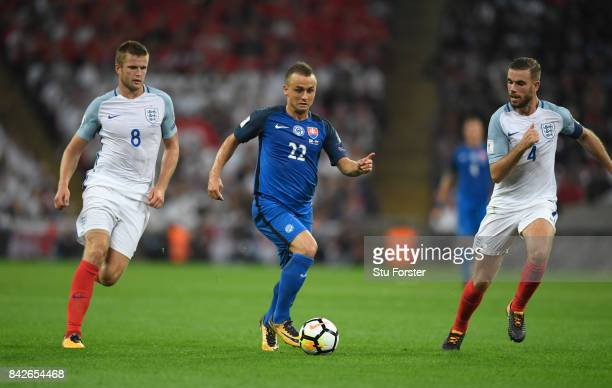 Stanislav Lobotka of Slovakia in action during the FIFA 2018 World Cup Qualifier between England and Slovakia at Wembley Stadium on September 4 2017...