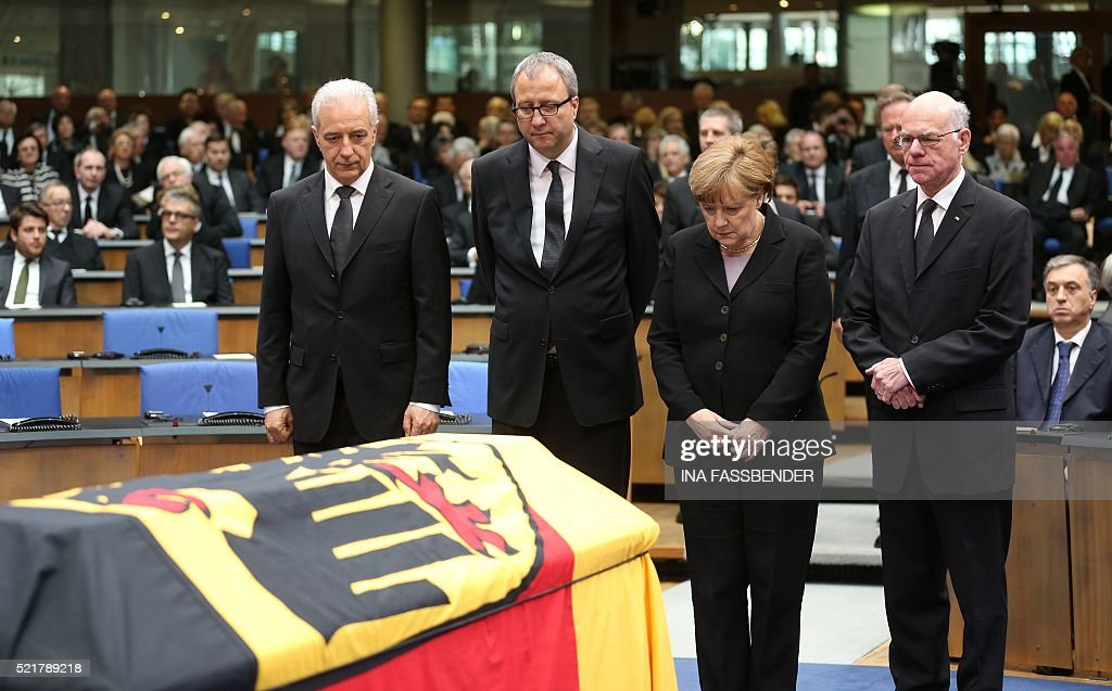Stanislaw Tillich president of the Bundesrat Andreas Vosskuhle president of the German Federal Constitutional Court German Chancellor Angela Merkel...