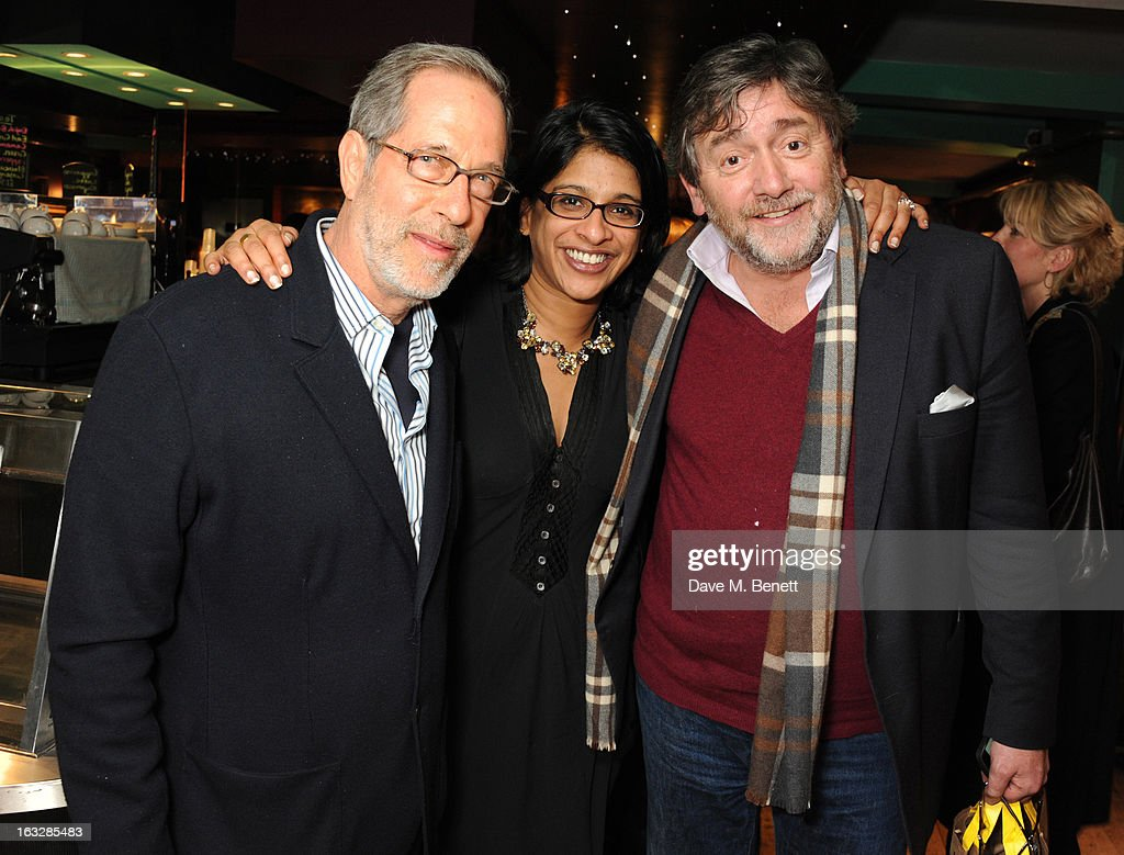 Stanley Buchthal, Indhu Rubasingham and Bob Benton attend an after party following the 'Paper Dolls' press night at Tricycle Theatre on March 6, 2013 in London, England.