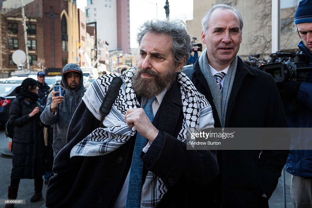 Stanley Cohen and Geoffrey S Stewart the defense lawyers for Osama Bin Laden's soninlaw Sulaiman Abu Ghaith leave federal court after Abu Ghaith was...