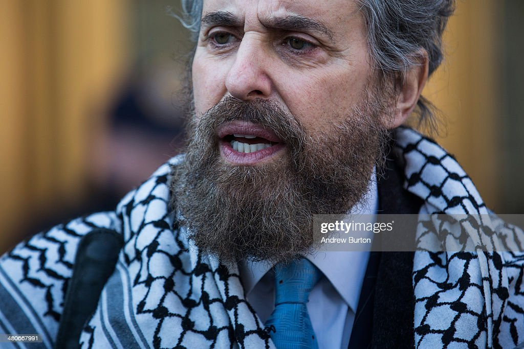 Stanley Cohen the defense lawyer for Osama Bin Laden's soninlaw Sulaiman Abu Ghaith speaks to members of the media after Abu Ghaith was convicted of...