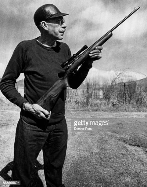 Stanley Donaldson of Saguache Colo a spare time gunsmith checks his latest in vention the TBolt Browning 22 Caliber Repeating rifle Credit Denver Post