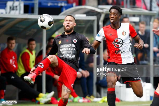 Stanley Elbers of Excelsior Terence Kongolo of Feyenoordduring the Dutch Eredivisie match between sbv Excelsior Rotterdam and Feyenoord Rotterdam at...