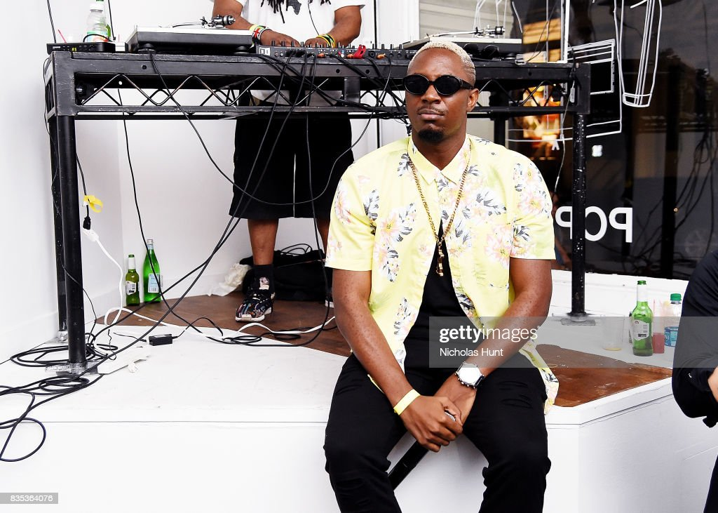 Stanley Enow attends Pop-Up Shop launch for clothing brand UNIFORM on August 18, 2017 in New York City.