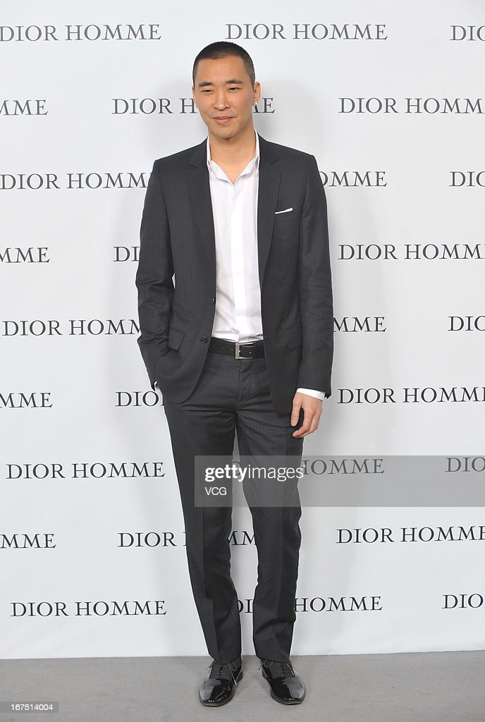 Stanley Huang attends the Dior Homme F/W 2013 Menswear Collection Show on April 25, 2013 in Beijing, China.