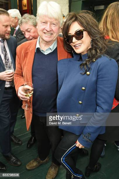 Stanley Johnson and Nancy Dell'Olio attend Boisdale Life Magazine's inaugural 'Editors Lunch' at Boisdale Of Belgravia on February 1 2017 in London...