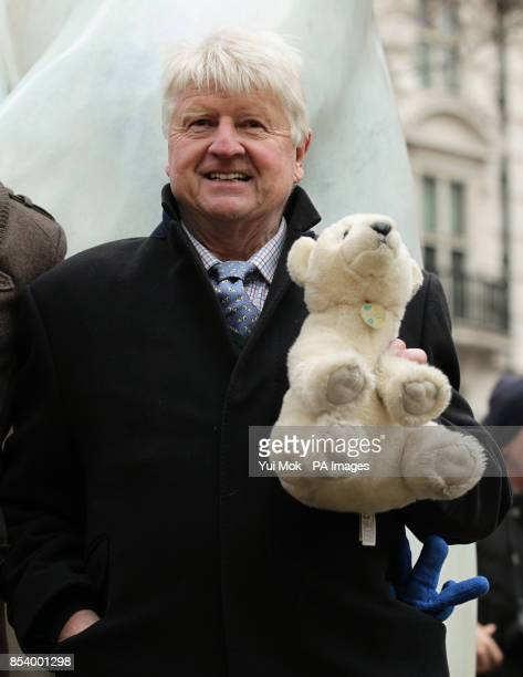 Stanley Johnson father of Mayor Boris Johnson during the unveiling of a life size 12ft bronze polar bear named Boris to launch a Great British...